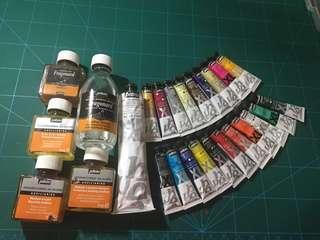 Oil paint set