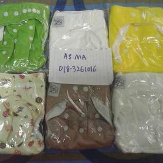 new 6 pcs cloth diaper pocket freesize (inc pos)