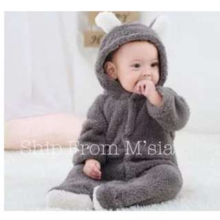 Bear Baby Winter Romper