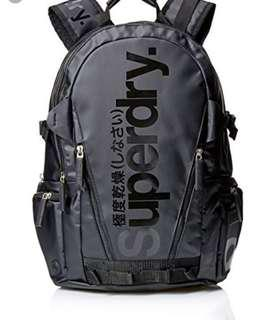 SuperDry Backpack Bag Black NEW