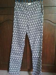 H&M printed slacks