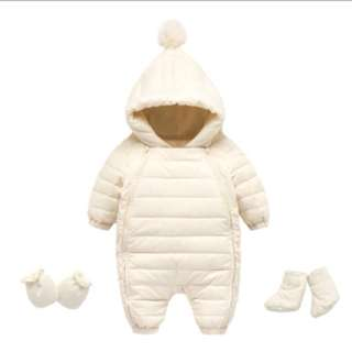 Baby Winter Coverall with Glove and Sock