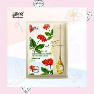 WENNIQUAN GINSENG FRUIT TAIWAN SHEET MASK KOREAN