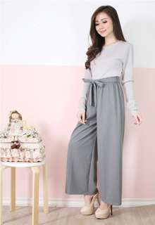 BESTDEAL STORE - CULLOTE WITH BOW IN GREY