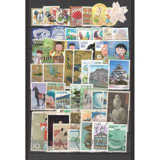 JAPAN LARGE & SMALL COMMEMORATIVE STAMPS 50 DIFFERENT LOT 234 SEE SCAN