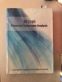 NTU BF2101 Financial Statement Analysis