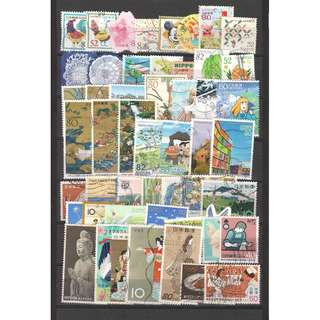 JAPAN LARGE & SMALL COMMEMORATIVE STAMPS 50 DIFFERENT LOT 235 SEE SCAN