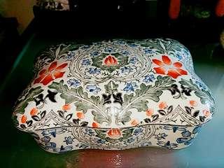 80年代中國外銷彩繪瓷盒