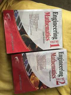 Engineering Mathematics vol. 1&2 (third edition) by DIT Gillesania