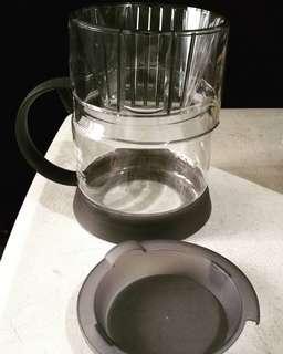 Iwaki pyrex coffee dripper with server