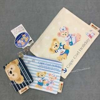 東京迪士尼 Cape Cod Holiday 達菲 雪莉梅 防水 萬用包 隨身包 拉鍊 收納袋 3入組
