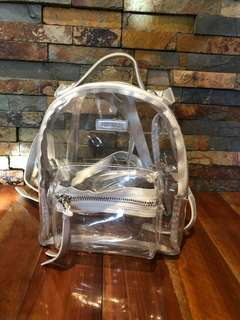 Forever21 clear mini backpack