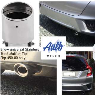 Universal Chrome Stainless Steel Car Rear Round Exhaust Pipe Tail