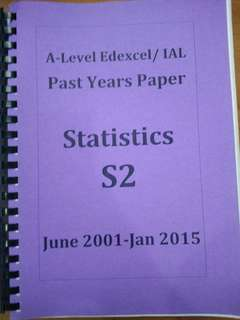 A level edexcel/ IAL past years paper statistics S2