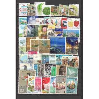 JAPAN LARGE & SMALL COMMEMORATIVE STAMPS 50 DIFFERENT LOT 238 SEE SCAN