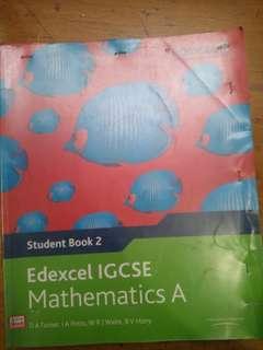 Edexcel IGCSE mathematics A Pearson