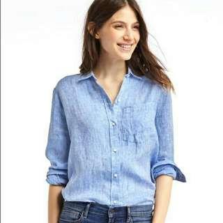 GAP Oversized Blue Shirt