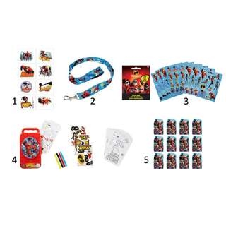 🚚 (Pre-Order)  Licensed Incredibles 2 Birthday Party Favors and Accessories