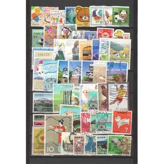 JAPAN LARGE & SMALL COMMEMORATIVE STAMPS 50 DIFFERENT LOT 241 SEE SCAN
