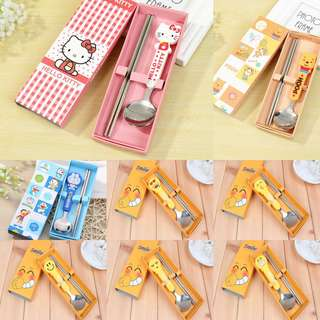 Children stainless Chopstick Set - Goodie Bag / Goody Bag / Party Gift / Cutlery Set