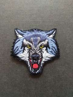 Wolf Iron On Patch