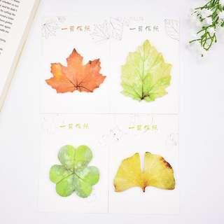 🌟BN INSTOCKS Pretty Leaves Sticky Post-Its Memo Pads