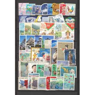 JAPAN LARGE & SMALL COMMEMORATIVE STAMPS 50 DIFFERENT LOT 243 SEE SCAN