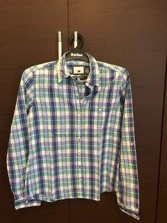 plaid blue shirt