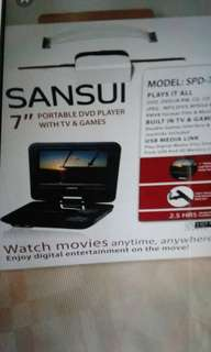 Sansui Portable DVD Player(Fixed Price)