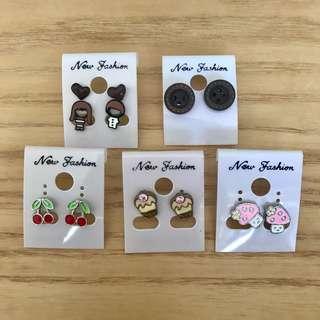 韓國 耳環 Korea Earrings $10 / 3 對