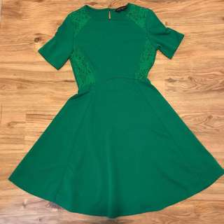 Dorothy Perkins Skater Dress with lace trim at the waist #July50