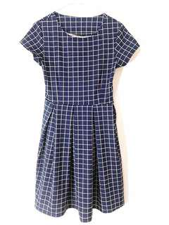 Square patterned dress