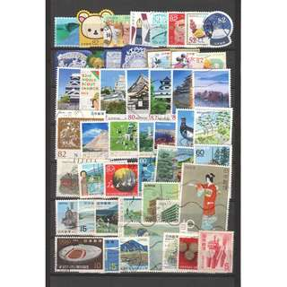 JAPAN LARGE & SMALL COMMEMORATIVE STAMPS 50 DIFFERENT LOT 244 SEE SCAN
