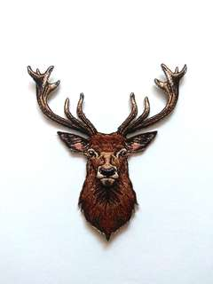 Deer Antler Stag Wildlife Iron On Patch