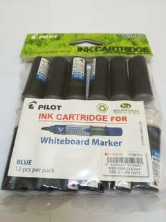 [NEW] Pilot Marker - Blue Ink Cartridge - White Board - Refillable - Pilot Board Master