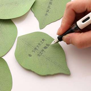 🍃BN INSTOCK Green Leaf Sticky Post-Its Memo Pad