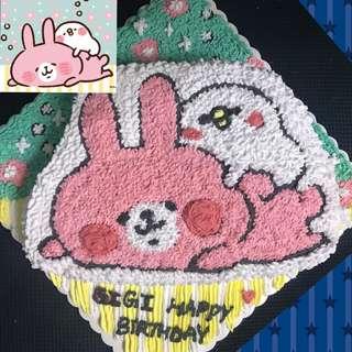 兔兔與P助 蛋糕 2磅