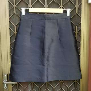 KOOKAI Starlight Skirt Black Mini Skirt A Line Shine Structured Premium