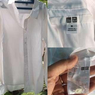 Kemeja Putih Uni-qlo