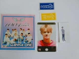 Wanna One 透卡+貼紙