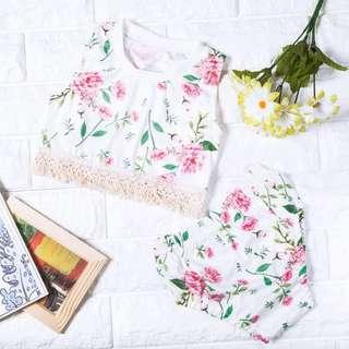 🚚 Instock - 2pc boho floral set, spring summer 2018 collection