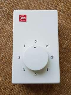 全新KDK樓底扇三速調節器