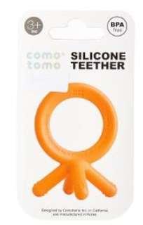 🚚 Set of 2 - Comotomo baby teethers (Blue & Orange)