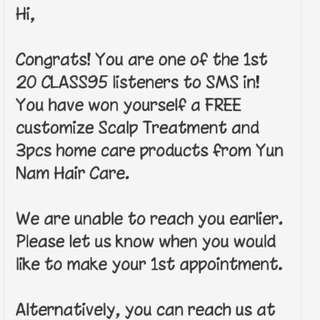 Yun nam customize scalp treatment and home care products