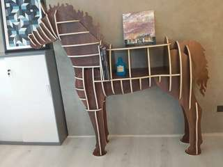 Life Size Wooden Horse Shelf