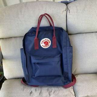 Fjallraven Kanken Classic Navy/ Red Backpack Bag