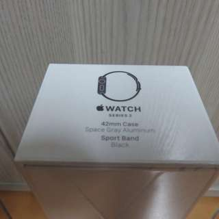 APPLE WATCH SERIES 2 SPACE GRAY ALUMINUM BLACK