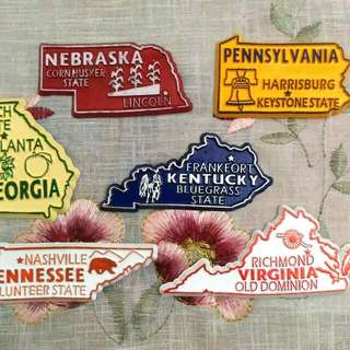 US States Ref/ Fridge Magnet