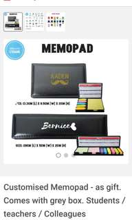 Customised Memopad - as gift comes with box for students / teachers / colleagues