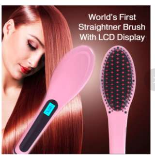 Cheapest LCD Electric Fast Hair Straightener Comb Iron Brush